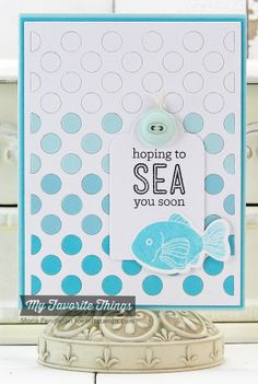 Sea Life, Blueprints 6 Die-namics, Polka Dot Cover-Up Die-namics, Stitched Circles STAX Die-namics - Mona Pendleton #mftstamps