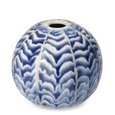 Ceramic Herringbone Round Vase   Williams-Sonoma