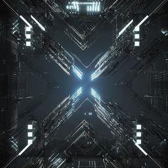 Breaker 01.10.17 Cyberpunk City, Futuristic City, Cube Design, Design Art, Post Apocalyptic City, Computer Chip, Tech Art, Conceptual Design, Technology Design