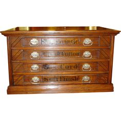 Rare 6 drawer Willimantic spool cabinet thread cabinet-FLYING ...