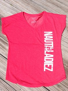 Nauti Ladiez Red V-Neck T-Shirt