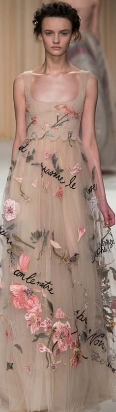 Valentino ~  Couture Spring Gown, Multi, 2015