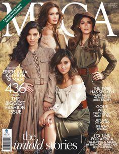 Erich Gonzales, Julia Barretto, Kathryn Bernardo, Maja Salvador -  Mega Magazine Cover [Philippines] (September 2014)