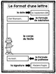 Learn French Videos Tips Student French Teacher, Teaching French, Teaching Writing, Writing Activities, Writing A Book, Letter Writing, Vocabulary Activities, Preschool Worksheets, Teaching Spanish