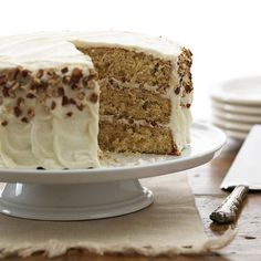 Italian Cream Cake  This three-layer cake gets its rich flavor from coconut and pecans. Extra toasted pecans between the layers add just the right amount of crunch.