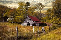 Barn Pictures, Pictures To Paint, Autumn Painting, Autumn Art, Landscape Art, Landscape Paintings, Landscapes, Old Cabins, Farm Paintings