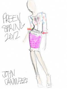 fashion sketch via tumblr