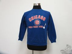 Vtg 80s 90s Chicago Cubs World Series Crewneck Sweatshirt sz S Small MLB Cubby #Unknown #ChicagoCubs