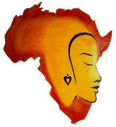 Mixed Media Portrait. #Art #Africa
