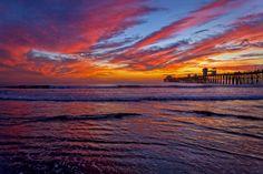 Fiery Sunset in Oceanside - November 12, 2013 by Rich Cruse on 500px