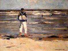 Georg Hambüchen (1901-1971/1972) Aan het strand.