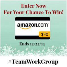 Win The $40 #Amazon Gift Card #Giveaway - Open to entrants #Worldwide - Ending on 12/22/13
