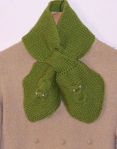 Handknitted Women Owl Scarf Bow Scarf Vintage style by evefashion, $36.00