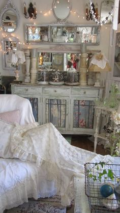 Beautiful french lace ruffled tablecloth by whitecottageinhills, $95.00