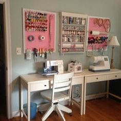 Sewing Room Craft Studio: Crafts Sewing Rooms,,Sewing Room Ideas on Pinterest   Cutting Tables  Peg Boards and