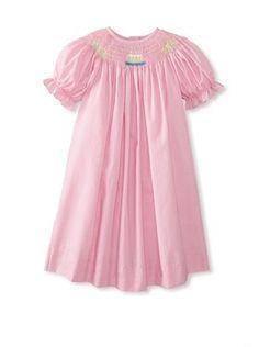72% OFF Vive La Fete Kid's Betti Terrell Smocked Birthday Bishop Dress (Pink)