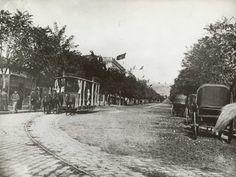 E114 | Ιππήλατο τραμ στο Bd Resadiw, στην περιοχή προξενείων | Κτίρια και περιοχές της πόλης |  Συλ. Rog. Viollet - 18 Χ 24 εκ. -  |  -