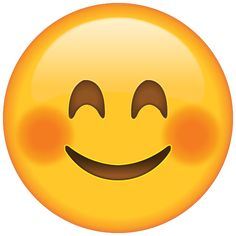 When a compliment sets your cheeks on fire, you can show you're blushing in a cute way with this emoji.