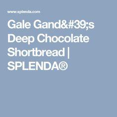 Gale Gand's Deep Chocolate Shortbread | SPLENDA®