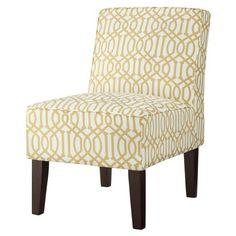 Threshold™ Slipper Chair - Yellow/White Trellis