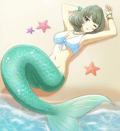 Anime Elf, Anime Monsters, Mermaid Images, Mermaid Pictures, Mermaid Melody, Mermaid Tale, Fantasy Mermaids, Mermaids And Mermen, Mythical Creatures Art