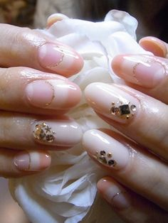 Japanese nail design-clear moon