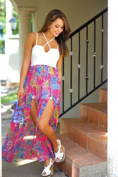 a99d1277f8def Getting Back Together Floral Maxi  Multi