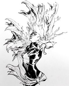 This Phoenix image was originally drawn for @gorillabrigade as part of our art trade. Unfortunately it's gone missing or accidentally sold to someone else? Apologies for the continued waiting, friend- will remedy soon. . . #phoenix #darkphoenix #xmen #marvel #marvelcomics #art #illustration #ericcanete