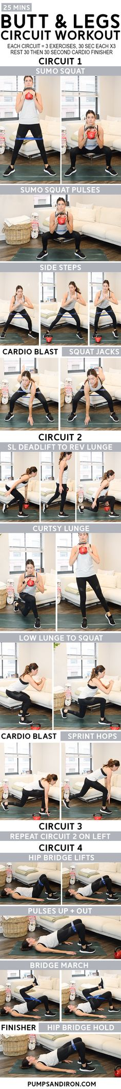 25-Minute Circuit Workout with Cardio Blasts: Butt & Legs