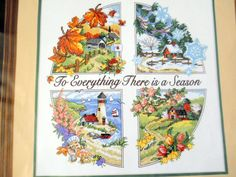 Dimensions A Season For Everything Cross Stitch NO FLOSS Started Karen Avery #Dimensions #StampedCrossStitch