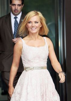 Geri Halliwell leaves the 'Viva Forever' photo call and press conference at the St. Pancras Renaissance Hotel in London - So pretty! Spice Girls Outfits, Viva Forever, Geri Halliwell, Renaissance Hotel, Female Singers, Victoria Beckham, Spice Things Up, Conference, Hair Cuts