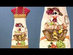 Avental com aplicação em tecido - YouTube