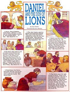 Daniel and the Den of Lions Preschool Bible Lessons, Bible Object Lessons, Bible Activities, Sunday School Stories, Sunday School Lessons, Lessons For Kids, Bible Heroes, Daniel And The Lions, Bible Quiz