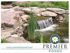 Waterfall created by Premier Ponds in Burtonsville, MD. #WaterfallWednesday