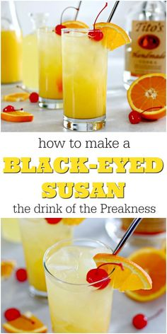 This Black Eyed Susan Cocktail Recipe is so refreshing and is the official drink of the Preakness Stakes. It's so refreshing, and is the perfect addition to your Derby party of to enjoy during the summer. Made with orange juice, vodka and bourbon, it has quickly become a favorite drink of mine! via @pourmeacocktail