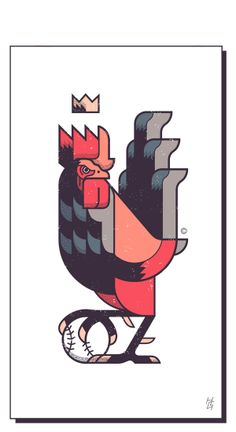 Illustration - illustration - Animal Symbol by Hernán Gallo, via Behance illustration : – Picture : – Description Animal Symbol by Hernán Gallo, via Behance -Read More – Art And Illustration, Illustrations And Posters, Graphic Design Illustration, Graphic Art, Rooster Illustration, Drawing, Animal Symbolism, Graphic Design Inspiration, Vector Art