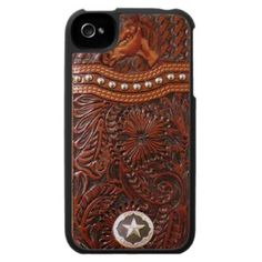 Wild Horse Tooled Leather iPhone Case