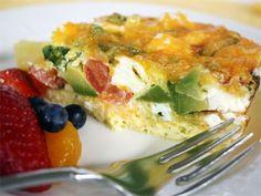 California egg casserole breakfast or brunch recipe.