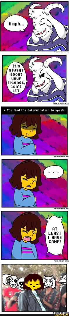 Frisk just dunked you Asriel XD