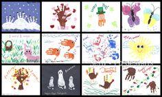 jeni ro designs - Kids handprint calendar