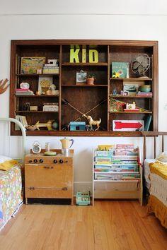 Shared kids' room. #vintage #shared #kids #bedroom #housetour
