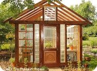 DIY Greenhouse out of windows - because I hate plastic! This is way more durable for New England gardens, and better for the environment using repurposed windows and recycled glass.