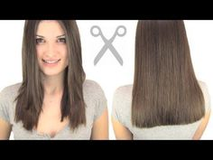 How to cut your own hair straight.  This looks easy enough.
