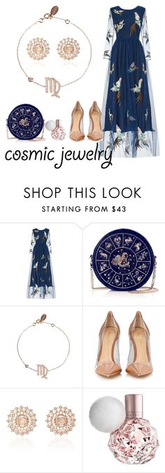"""Cosmically girly (Virgo)"" by aysh-m ❤ liked on Polyvore featuring Gianvito Rossi, Nam Cho, Elegant, glam, polyvorecontest, polyvorefashion and fashioninspo"