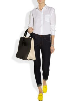 Loving simpler outfits like this. I want a pair of Gucci loafers.