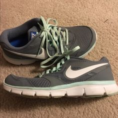 Women's shoes Lightly worn women's Nike shoes. Mint green and gray color. Super comfy. Nike Shoes Sneakers