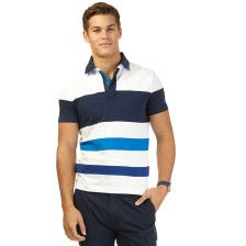 Slim Fit Pieced Deck Polo Shirt - Bright White