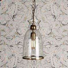 Another glass and brass gem. Gentle flowing outline in clear glass with seriously beautiful antique brasswork throughout