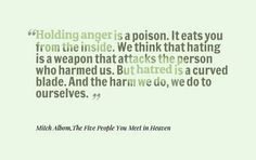 Holding anger is a poison ... Daily #Inspirational #Quotes