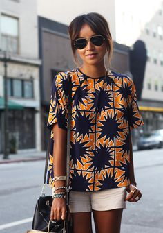 Blouse: Asos | Bag: 3.1 Phillip Lim(on my wish list here)| Shades: Ray Ban |   Sneakers: Isabel Marant